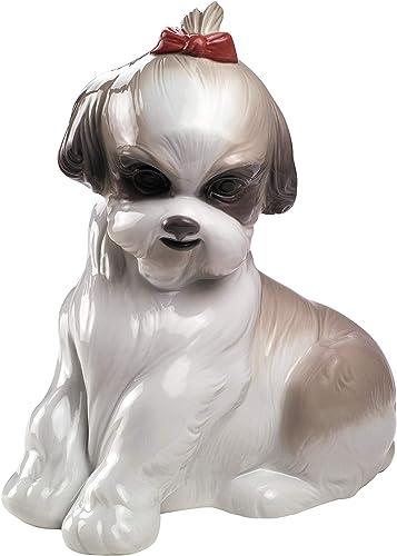 NAO Pampered Shih-Tzu. Porcelain Shih-Tzu Dog Figure.