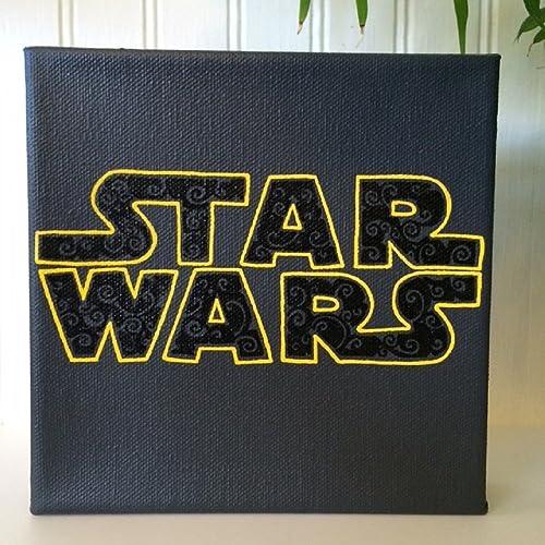 Amazon Com Star Wars Logo Star Wars Wall Art Home Decor Geek