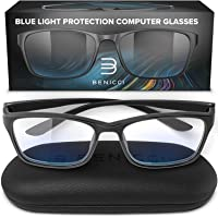 Stylish Blue Light Blocking Glasses for Women or Men - Ease Computer and Digital Eye Strain, Dry Eyes, Headaches and…