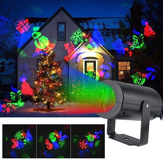 Luces de proyector de Navidad - 12 Patrones Decoraciones ...