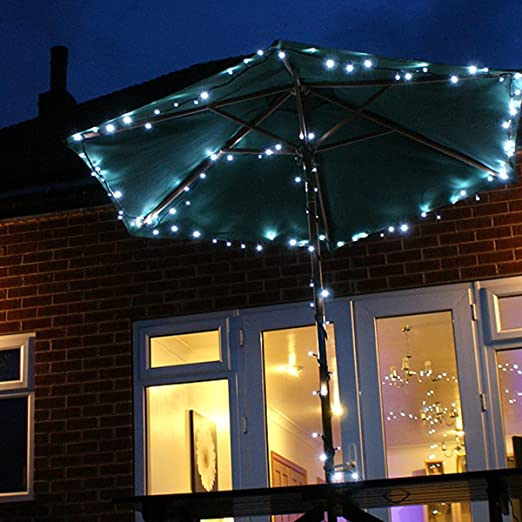 quality design 0df91 7125e Solar Fairy String Lights, 100 White LEDs, 10m: Amazon.co.uk ...