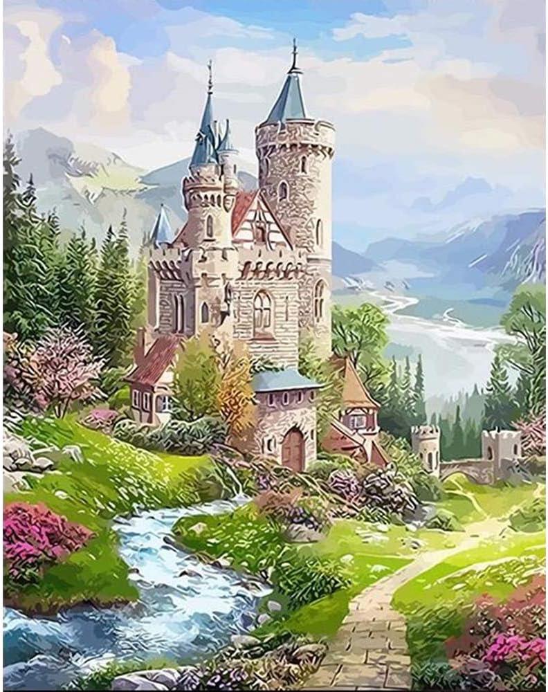 5D Landscape Diamond Painting Beautiful Palace Full Drill Cross Stitch DIY Castle Mosaic Home Decoration