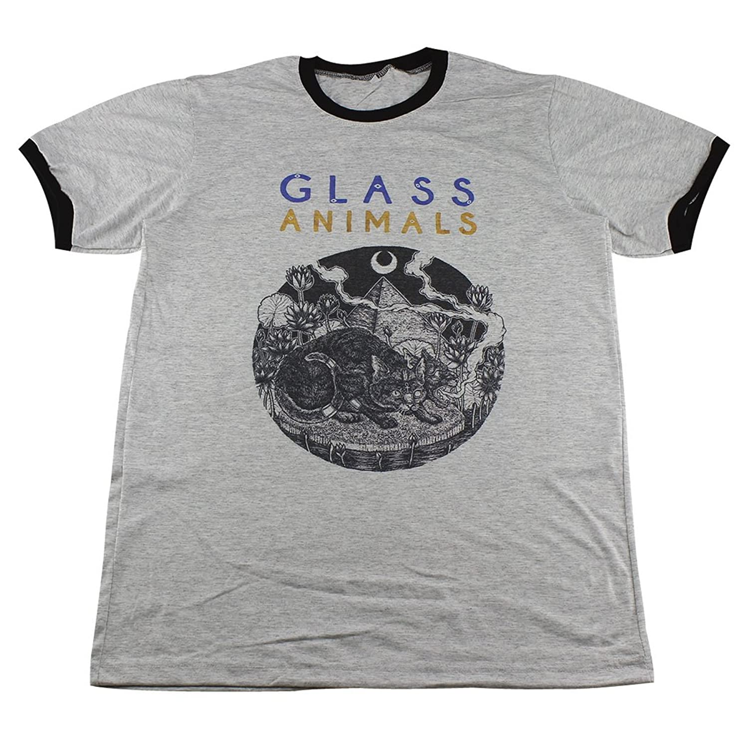 Glass Animals alternative indie rock band T-Shirt Gray / C045.4 size L