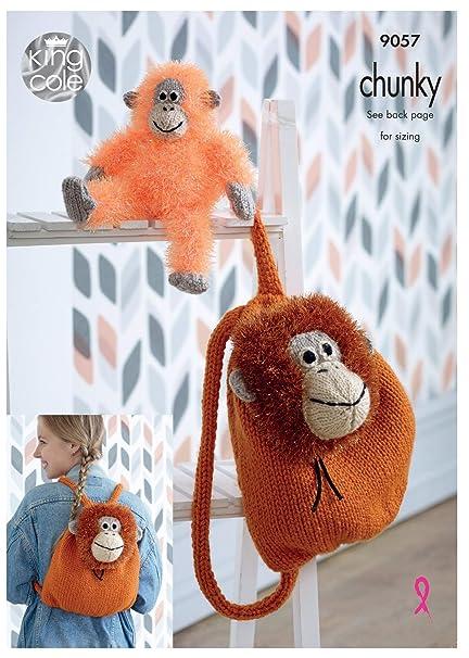 Alpaca Toy Tufty Super Chunky Knitting Pattern knits 2 Sizes King Cole 9115