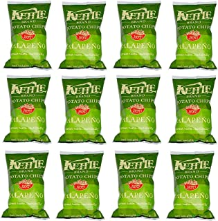 product image for Kettle Brand Potato Chips, Jalapeno, 2-ounce bags (12 Count)