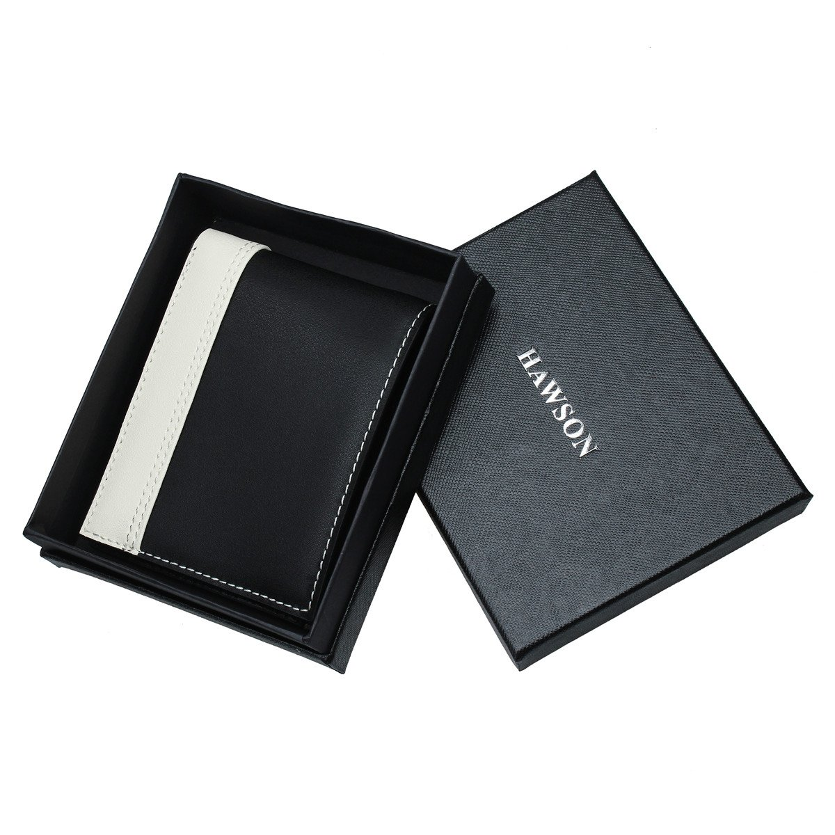 RFID Blocking Bifold Leather Wallet for Men - Best Gifts for Business Anniversary by HAWSON (Image #7)
