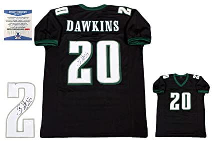 acc224286ac Image Unavailable. Image not available for. Color: Brian Dawkins  Autographed SIGNED Jersey - Black ...
