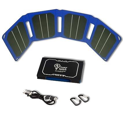 Amazon.com: Cargador Solar Portátil para Camping, Senderismo ...