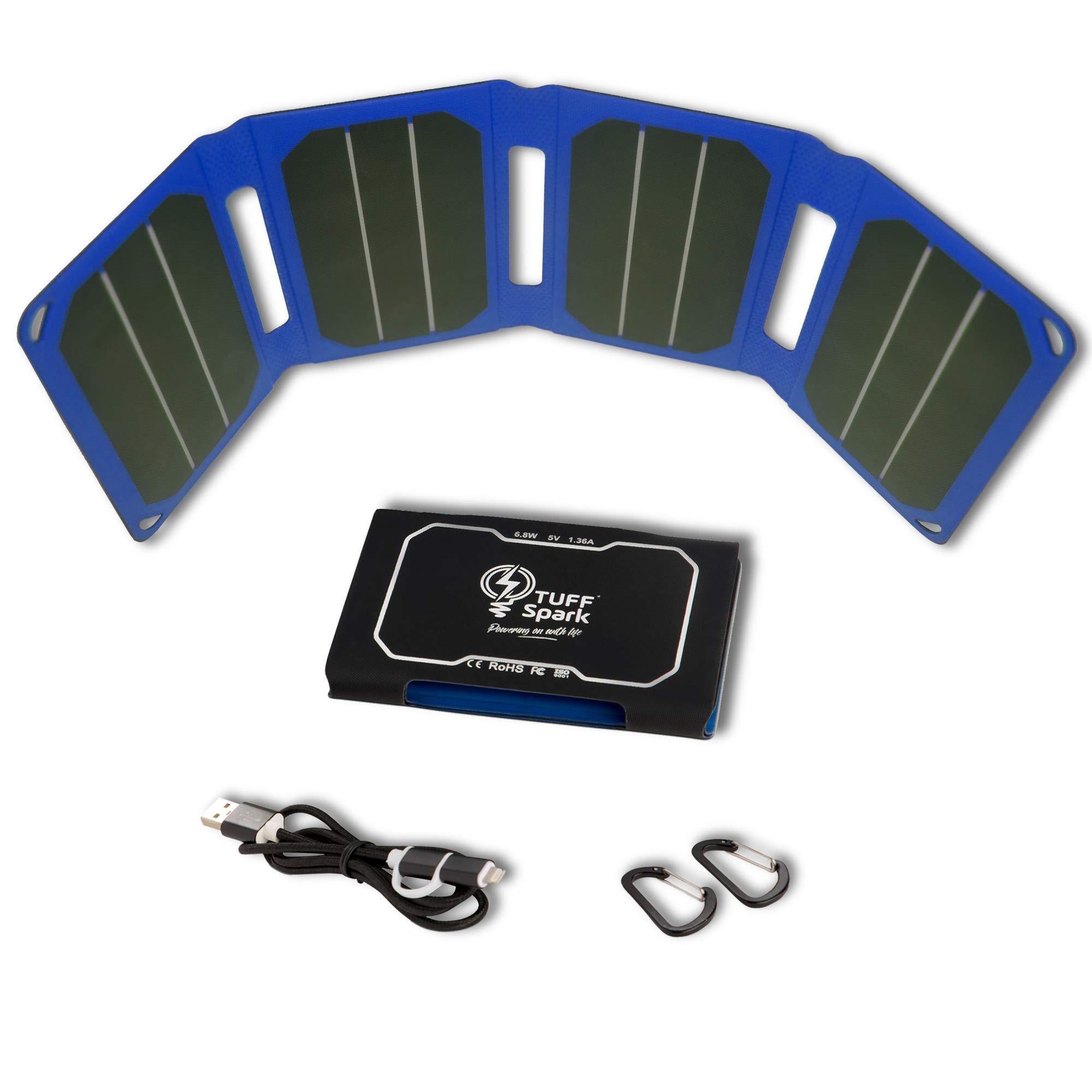 Cargador Solar Portatil de 6.8 Watts de Salida TUFFSPARK