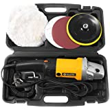 "Goplus Electric Car Polisher Variable 6-Speed 7"" Buffer Sander w/Bonnet Pad"