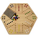 amazon com solid oak double sided aggravation wahoo board game