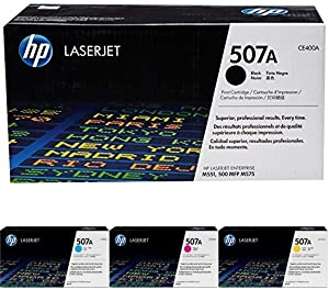 HP 507A Black/Cyan/Magenta/Yellow LaserJet Toner Cartridge Bundle (CE400A/CE401A/CE402A/CE403A)