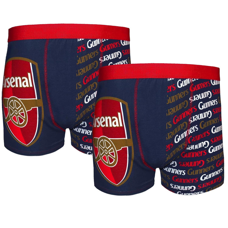Herren Boxershorts Arsenal FC Geschenk f/ür Fu/ßballfans 2 Paar Offizielles Merchandise