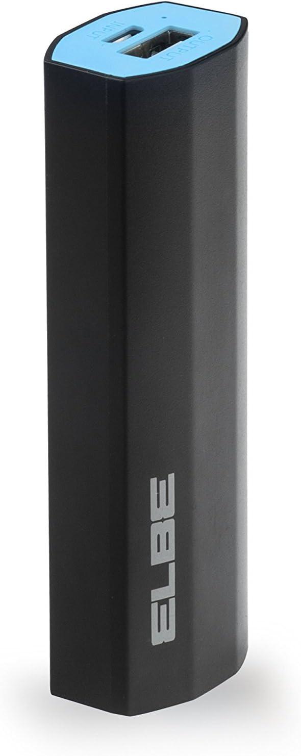 Elbe CARG-321-N - Batería de Emergencia de 2600 mAh, Color Negro y Azul: Amazon.es: Electrónica