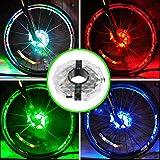 自転車 テールライト ライト UMTELE,自転車タイヤ用ライト ホイールライト usb led ライト 充電式 パターン3種 4色 テールランプ 夜間 事故 防止 ライト 簡単取り付け 防水 安全警告ライト