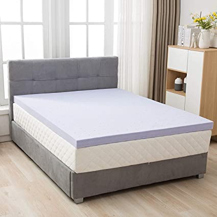 cb95ad544d8 Image Unavailable. Image not available for. Color  Mecor 4 Inch Gel Infused Memory  Foam Mattress Topper
