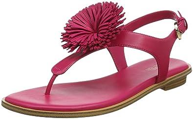 b3cf1a42d Michael Michael Kors Womens Lolita Leather Thong Flats Pink 8.5 Medium (B,M)