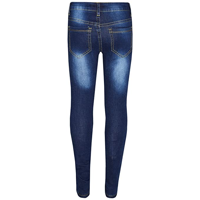 5972aa23a9e Amazon.com  Kids Girls Skinny Jeans Denim Ripped Stretchy Pants Jeggings  New Age 3-13 Years  Clothing