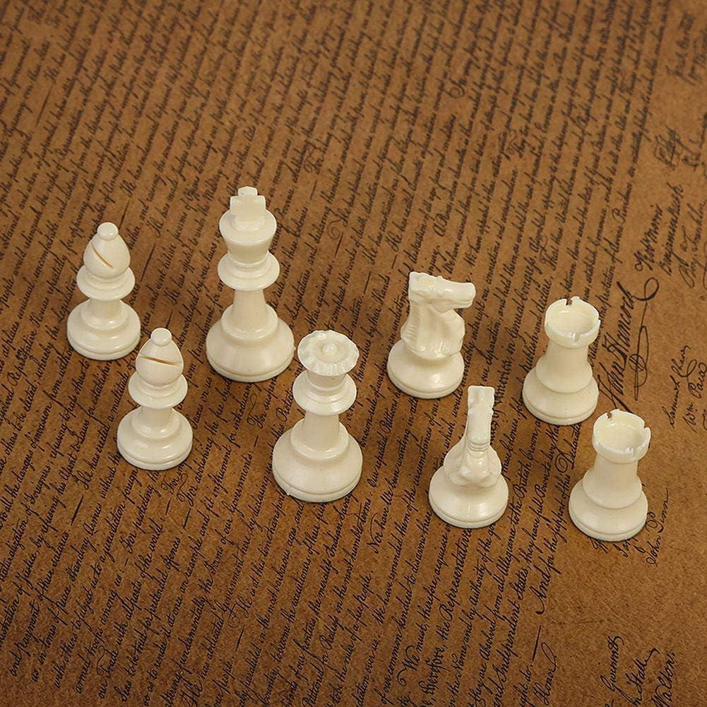 64MM Vobor Pezzi degli Scacchi Set di Scacchi in plastica Bianca e Nera Gioco da Tavolo
