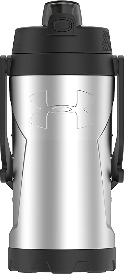 f124bad15f Amazon.com: Under Armour MVP 2 Liter Stainless Steel Water Bottle,  Stainless: Kitchen & Dining