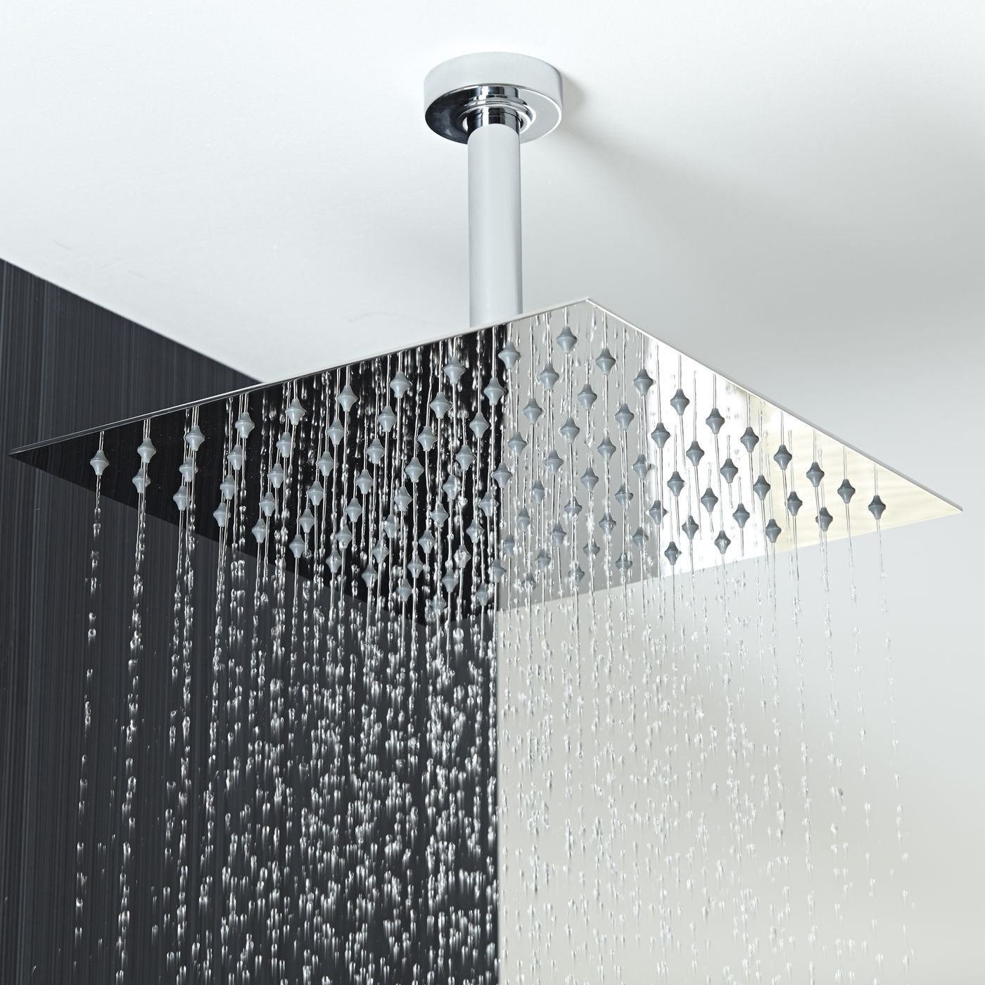 Koko Brand Rain16 16-inch Solid Square Ultra Thin Rain Shower Head ...