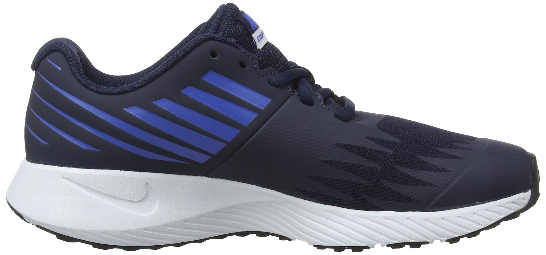 Nike Boy's Star Runner (GS) Running Shoe Obsidian/Metallic Silver/Signal Blue Size 3.5 M US by Nike (Image #6)