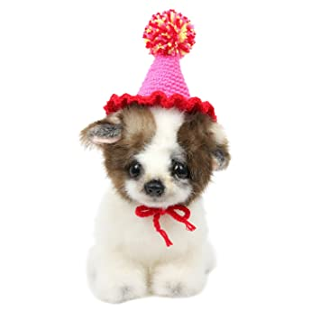 HBuir Handmade DIY Birthday Hat Pet Dog Santa For Cat