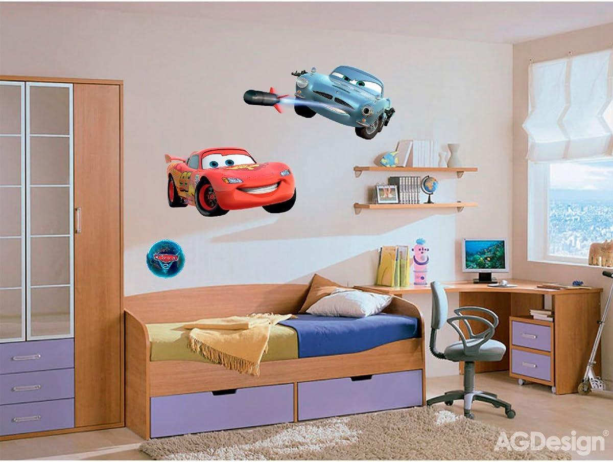 Disney Cars Saetta e Finn McMissile Decorazione Murale Adesiva 65x85cm