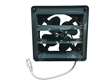 43bc8c4a4bb Professional Grade Products 9800511 Metal Shutter Exhaust Fan for Garage  Shed Pole Barn Hydroponic Ventilation