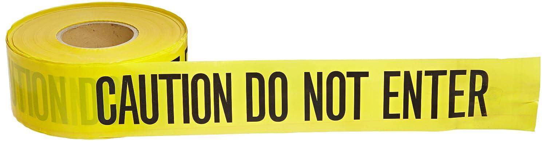Brady 91451 3 Width, B-912 Polyethylene, 1000' Length, Black On Yellow Color Barricade Tape, Legend Caution Do Not Enter by Brady  B003XU7NN6