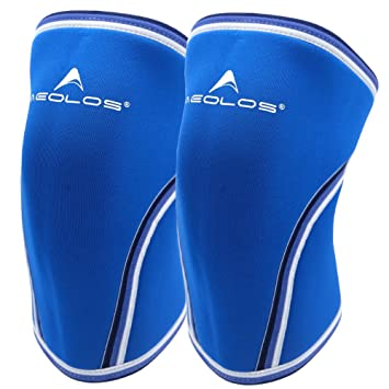67c1e1e9fc Knee Sleeves (1 Pair), 7mm Thick Compression Knee Braces Offer Strong  Support for