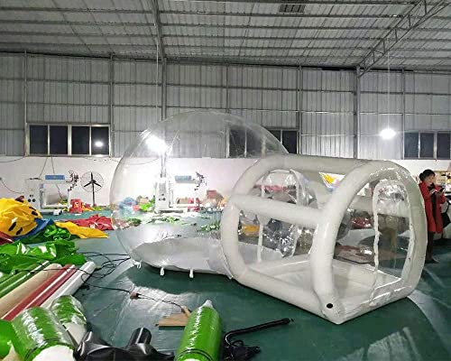 JYNselling Transparent Inflatable Bubble Camping Tent 2m Support Tunnel with Blower and Air Pump