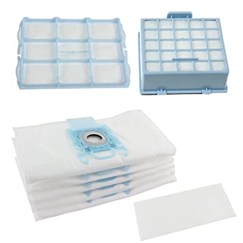 Spares2go bolsas de polvo y Micro Kit de filtro HEPA para Bosch BSG6 GL-30 BSGL3 BSGL4 GL-40 serie aspiradora (unidades 4 bolsas y 3 filtros)
