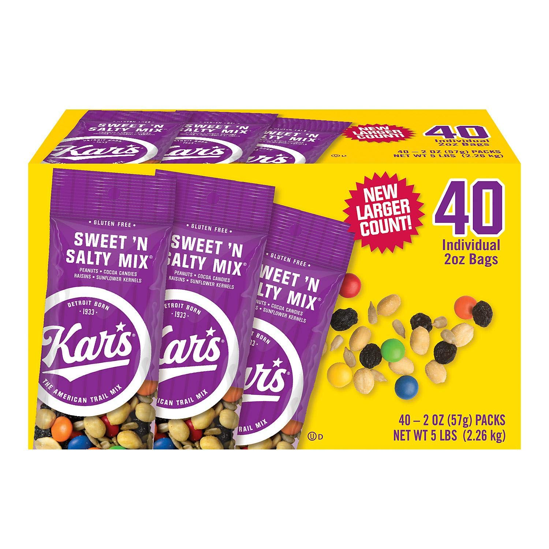 Kar's Sweet 'n Salty Mix 40 Individual 2 oz Bags (1) (Basic)