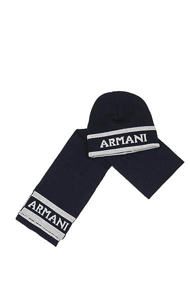 prezzo di fabbrica famoso marchio di stilisti carino economico Armani Junior Sciarpa e Cappello 4073007A706 Blu M: Amazon ...
