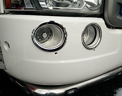 Scania acero inoxidable Luces Antiniebla Envolvente: Amazon ...