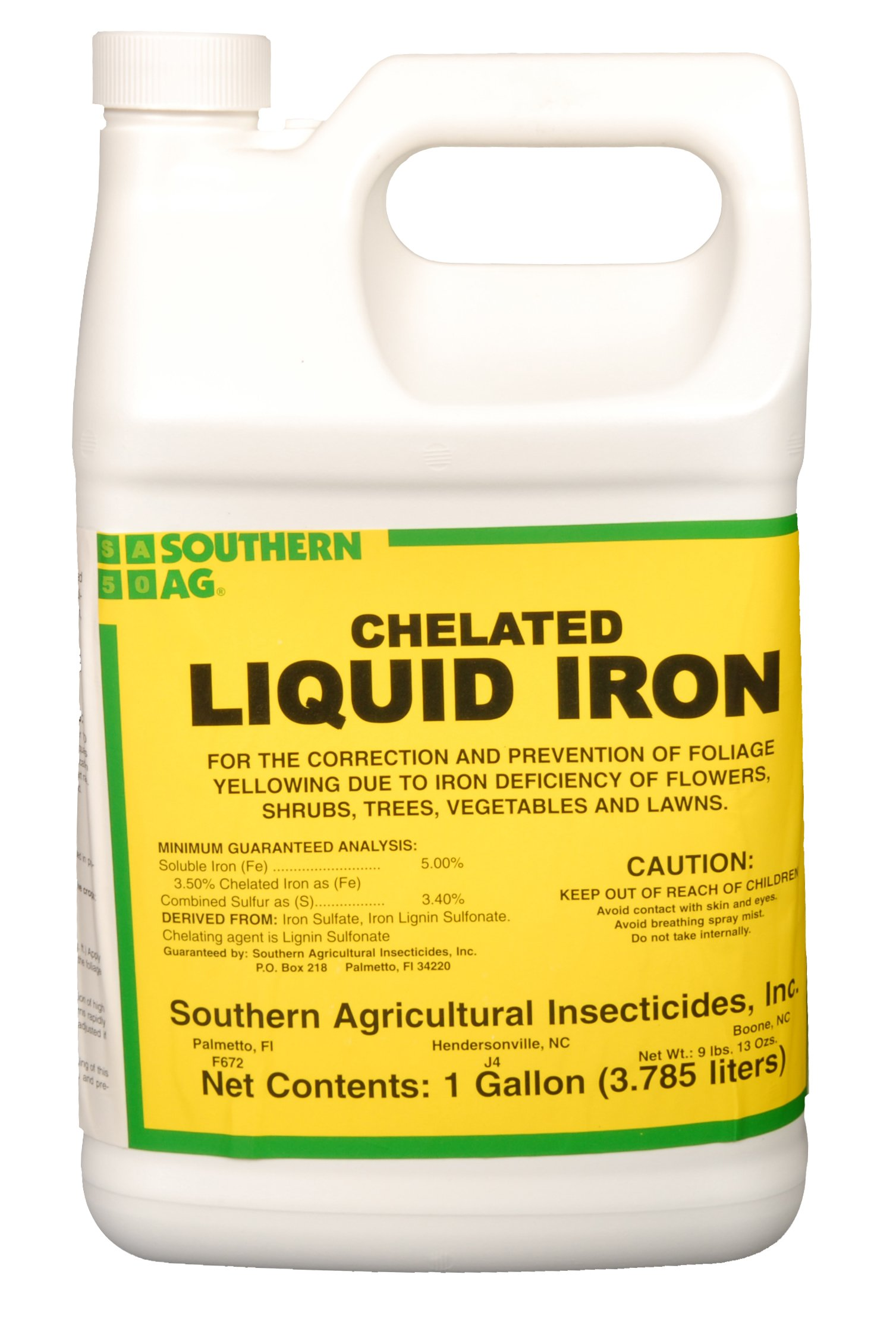 Southern Ag Chelated Liquid Iron, 128oz - 1 Gallon by Southern Ag