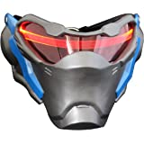 Smays Overwatch Soldier 76 Similar Cosplay Mask Gift (with LED Strip, Polyresin Material, Hard Case / Heavy)