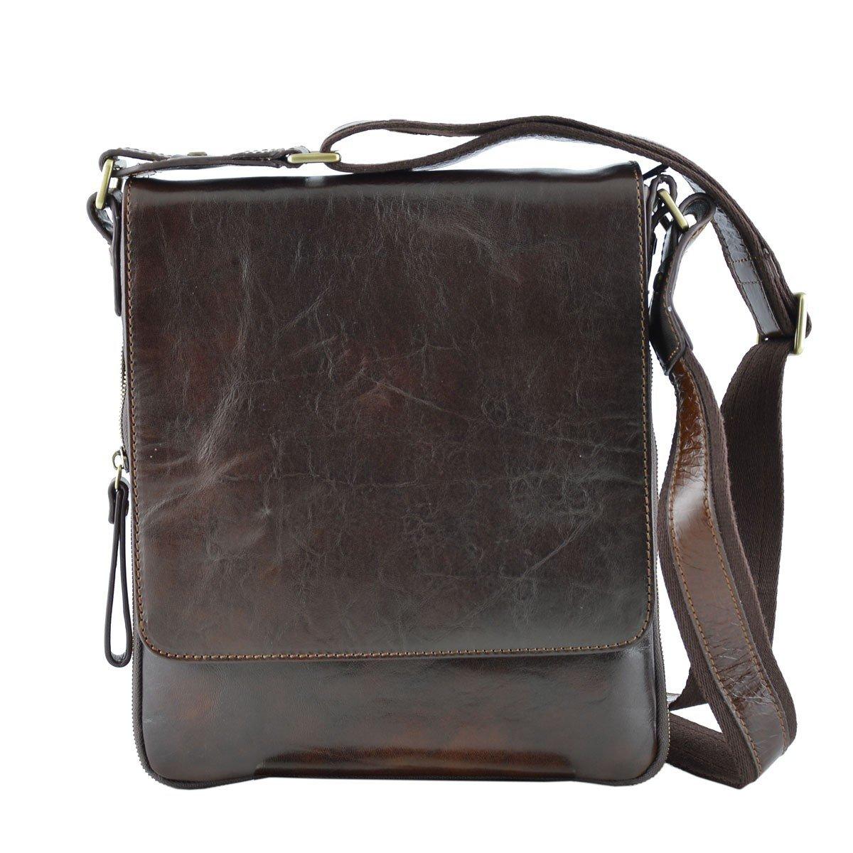 Dream Leather Bags Made in Italy Genuine Leather メンズ 529-3 US サイズ: 1 M US カラー: ブラウン   B076RDT6K2