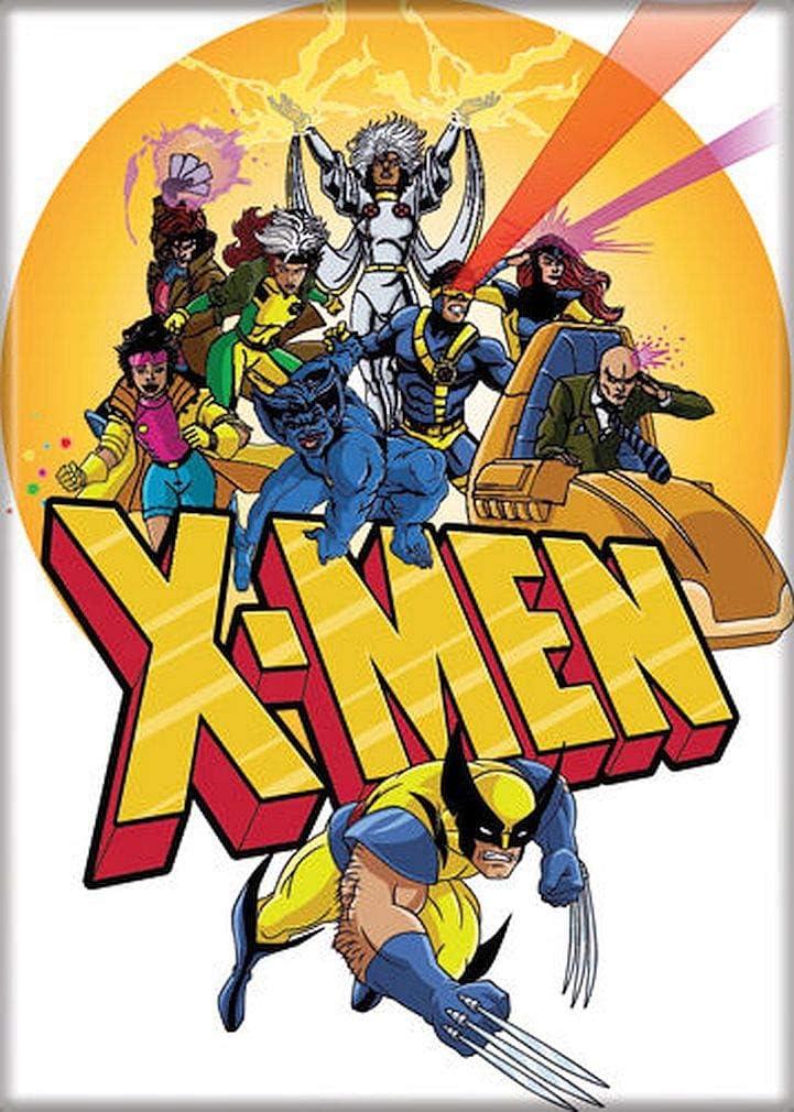 "Ata-Boy Marvel Comics X-Men on Yellow 2.5"" x 3.5"" Magnet for Refrigerators and Lockers"