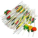 Hommy かわいい パーティ装飾 使い捨てピペット カラーバー アート吸管 果物 造型 ストロー 50本入り