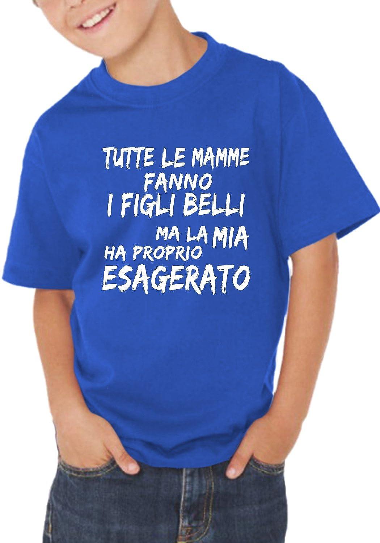 T-shirt bambino divertente TUTTE LE MAMME FANNO I FIGLI BELLI - maglietta umoristica 100% cotone JHK_Fermento Italia