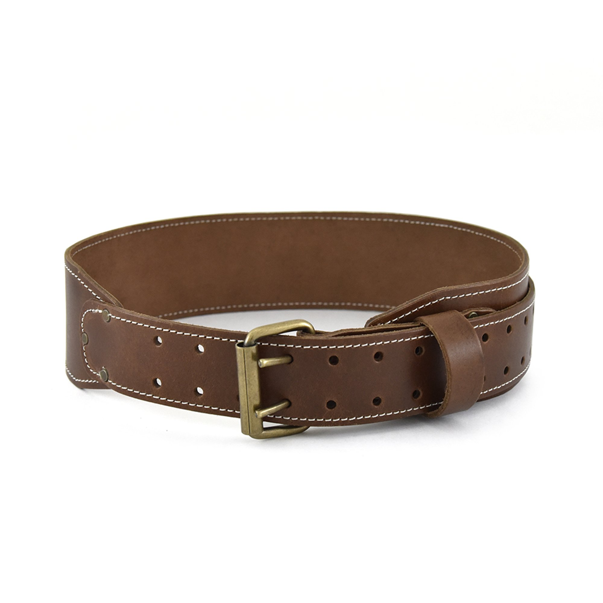 Style n Craft 98-439 Wide Extra Long Tapered Leather Work Belt, 3''