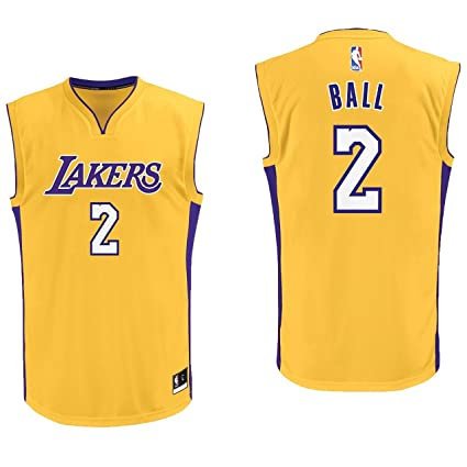 75c67d1a13c1 Amazon.com   Lonzo Ball Los Angeles Lakers  2 Yellow Youth Home Replica  Jersey Small 8   Sports   Outdoors