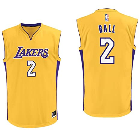 09dbefcfe80 Lonzo Ball Los Angeles Lakers #2 Yellow Youth Home Replica Jersey Small 8