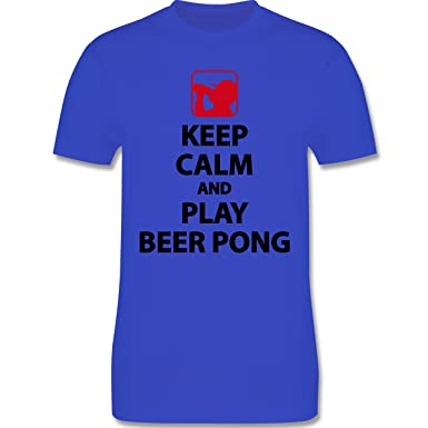 Festival - Keep Calm and Play Beer Pong - 3XL - Royalblau - L190 - Herren