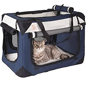 "PetLuv Soothing ""Happy Cat"" Premium Soft-Sided Cat Carrier & Travel Crate"