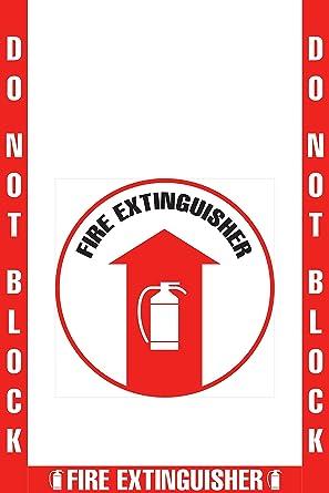 Amazon.com: No bloquee el marcador del suelo de extintor ...