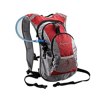 Mochila de Hidratacion de 10 L para Ciclismo IMPERMEABLE MTB + Bolsa columna de agua de 2 L COLOR ROJO 3744: Amazon.es: Deportes y aire libre