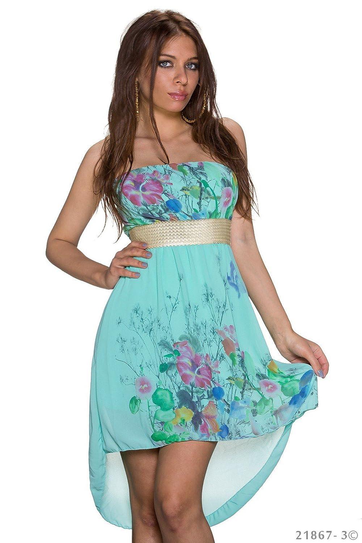 Vokuhila Kleid, Partykleid, Blumen Sommerkleid, Abendkleid ...